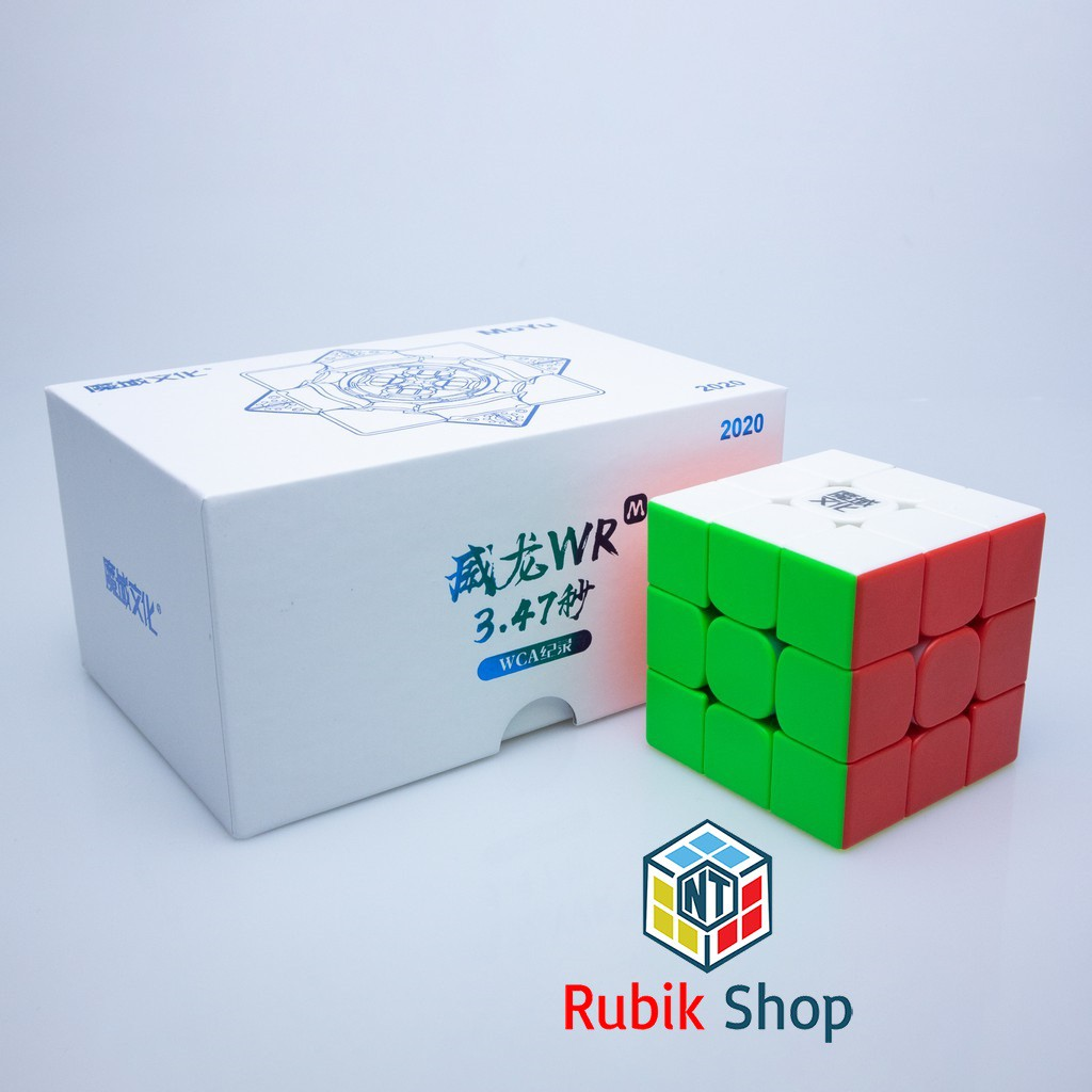 [Siêu Phẩm] Rubik 3×3 MoYu Weilong WRM 2019/2020 Stickerless/ Đen (Có nam châm)