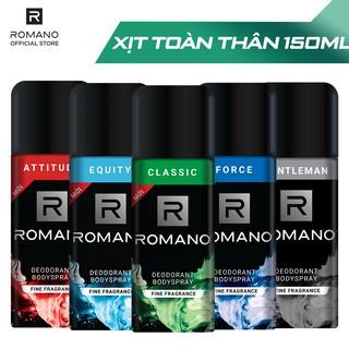 Xịt khử mùi toàn thân Romano hương nước hoa 150ml