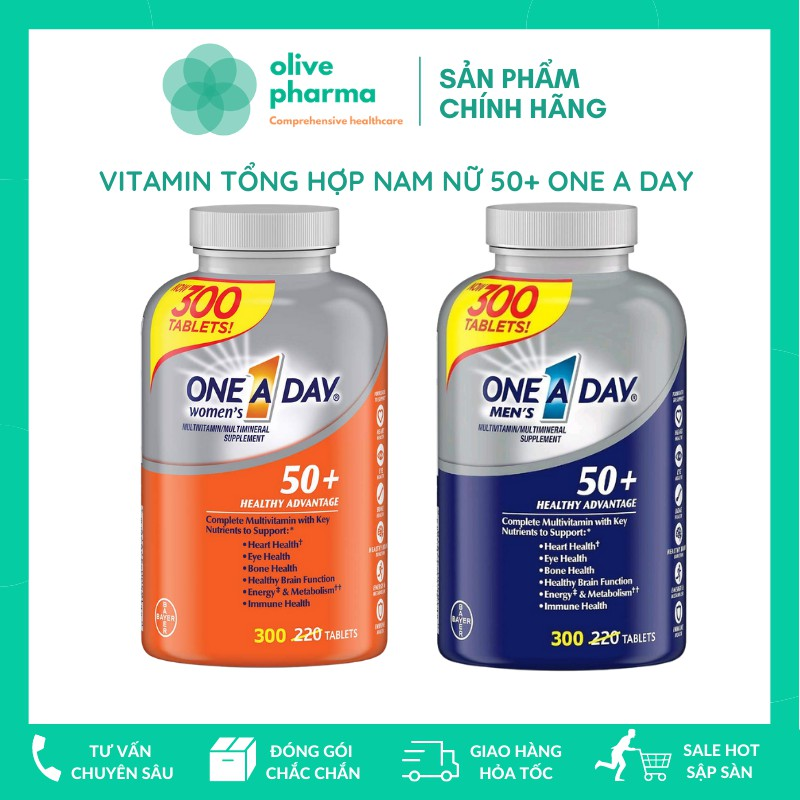 ONE A DAY NAM NỮ 50+ USA