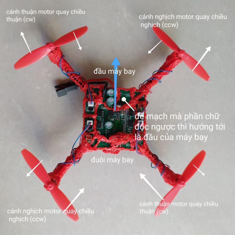 Máy bay flycam drone quadcopter loại 7.4v tự thực hành lắp ráp.