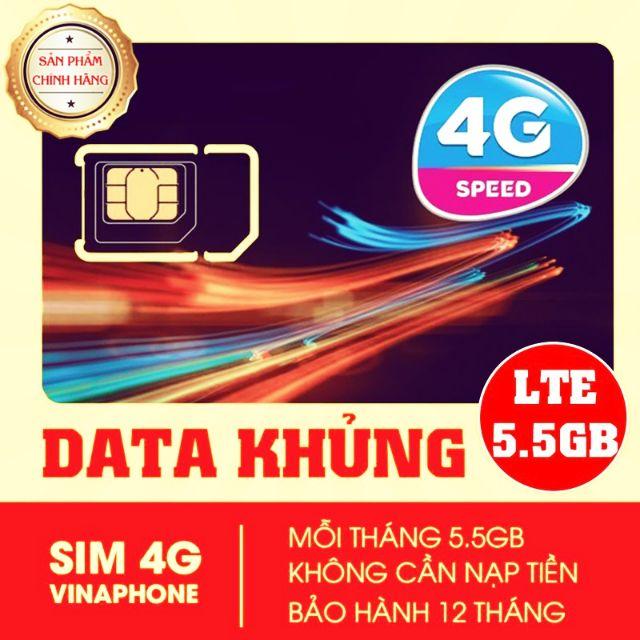 Sim vina D500 5Gb/tháng 1 năm không nạp tiền