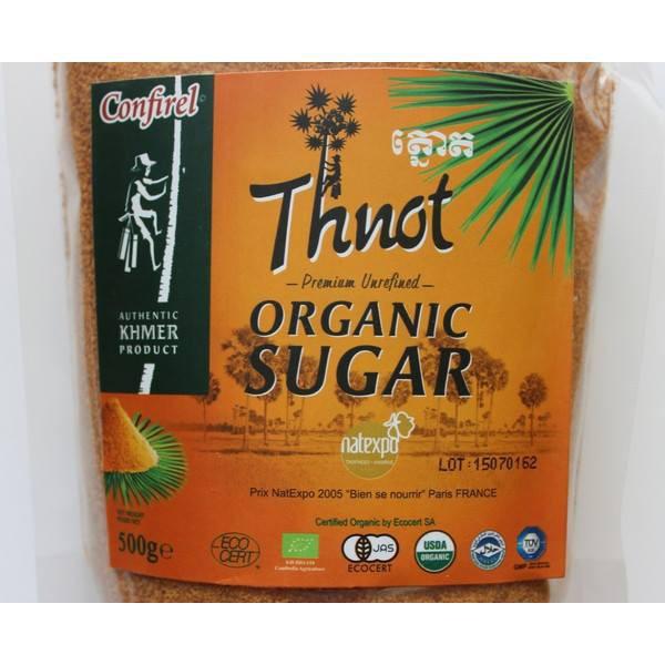 Đường Thốt nốt hữu cơ 500g @Hàng-Campuchia CONFIREL Organic-Thnot-USDA-JAS-EU-by-Authentic-Khmer-Product