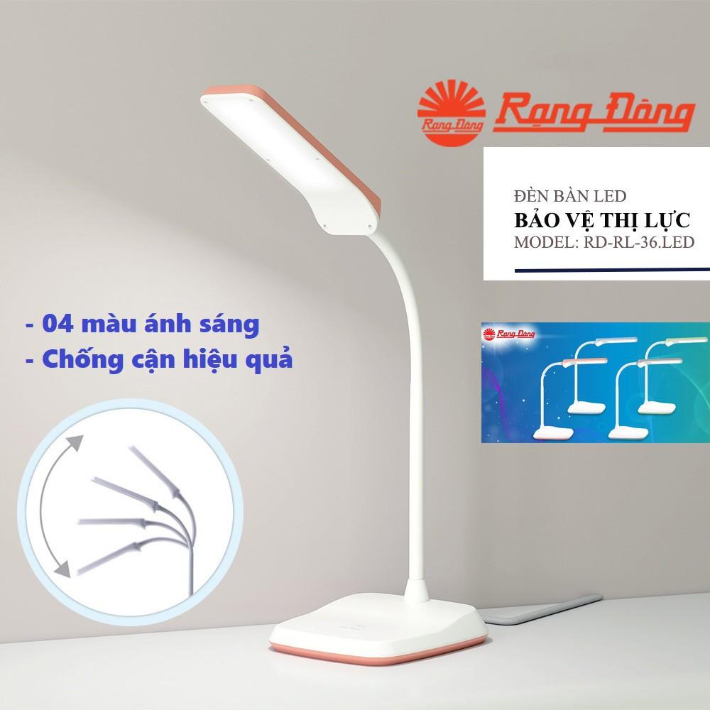 Đèn bàn LED cảm ứng bảo vệ mắt Rạng Đông RD-RL-36.LED - Bảo hành 2 năm