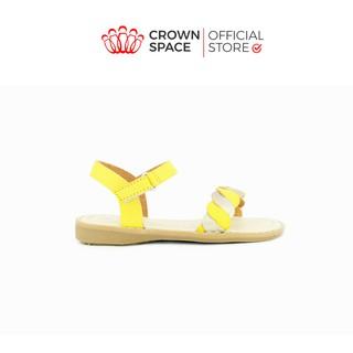 Xăng đan Bé Gái Đi Học Đi Chơi Crown Space UK Cinderell Sandals Trẻ em Cao Cấp CB7010 Nhẹ Êm Thoáng Size 24-29 2-12 Tuổi