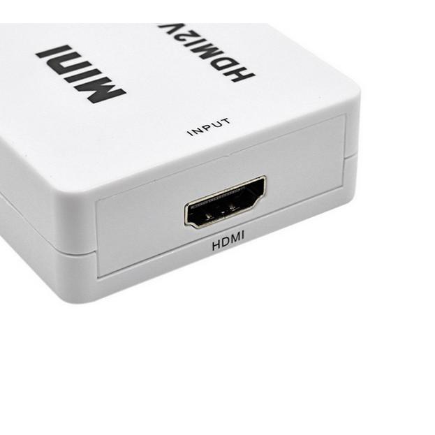 Bộ chuyển đổi tín hiệu HDMI sang VGA mini - từ máy tính, laptop lên màn hình TV, máy chiếu