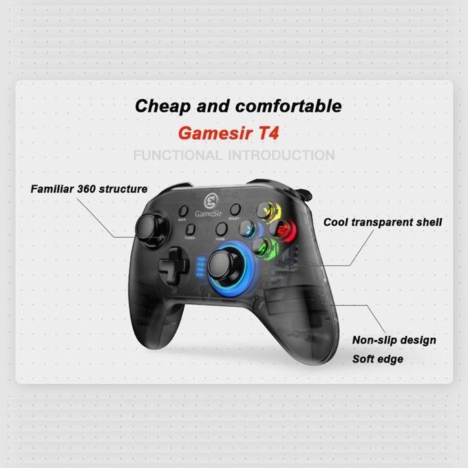 Tay cầm chơi game không dây đa năng T4 pro / T4 cho PC   IOS   Android   Switch