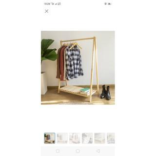 Giá treo quần áo 1 tầng gỗ thông nhập khẩu