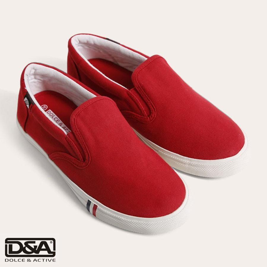 Giầy slipon nữ D&A L1602 Đỏ