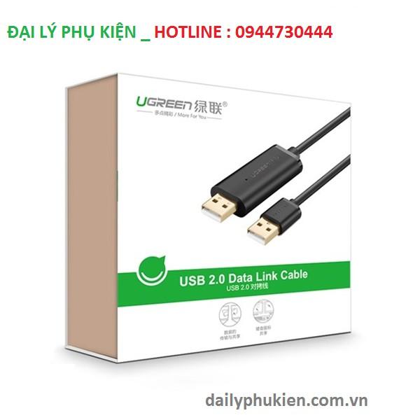 Cáp USB 2.0 Data Link dài 3m Ugreen 20226