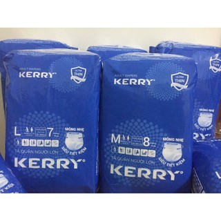 5 gói tã quần người lớn Kerry Size M 8 L 7