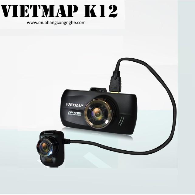 Camera hành trình Vietmap K12 Dual GPS- BH 1 năm
