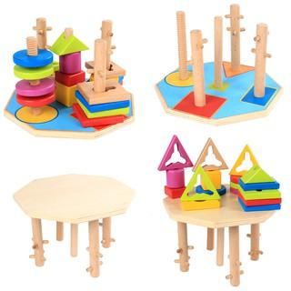 bộ đồ chơi hình học bằng gỗ