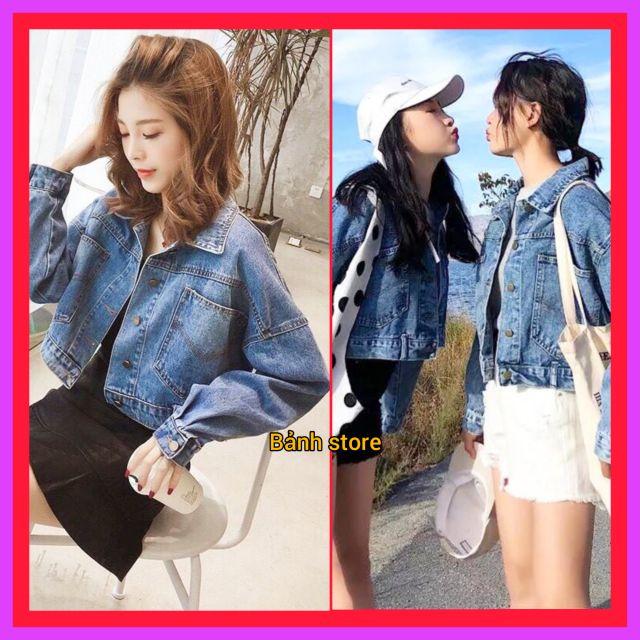 💥FREE SHIP💥áo khoác jean nữ crop hàng cao cấp vải tốt