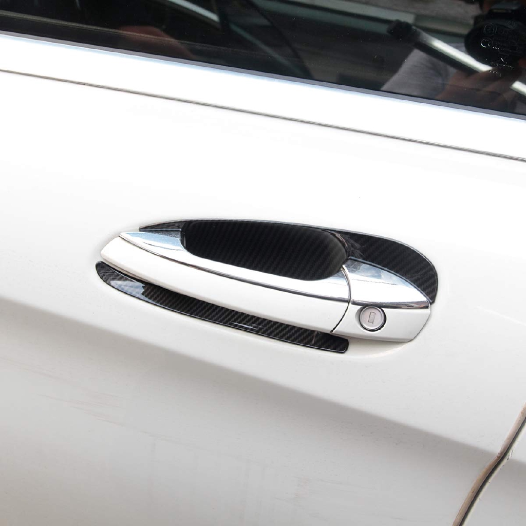 ABS คาร์บอนไฟเบอร์สไตล์ประตูรถชามตกแต่ง Trim สำหรับ GLK / GL / ML / C คลาส W204 X204