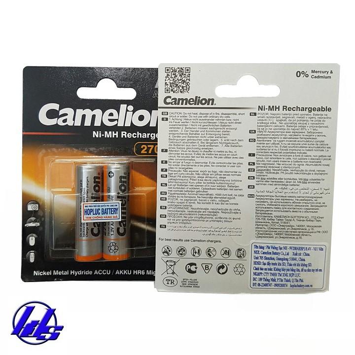 Combo bộ sạc nhanh 2 giờ, tự ngắt Camelion BC-0905A kèm 4 pin sạc AA 2700mAh Recharge Accu