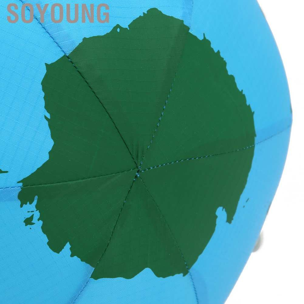 Soyoung Nylon Cloth Inflatable Latex Balloons Beach Ball Children Outdoor Toys The Earth