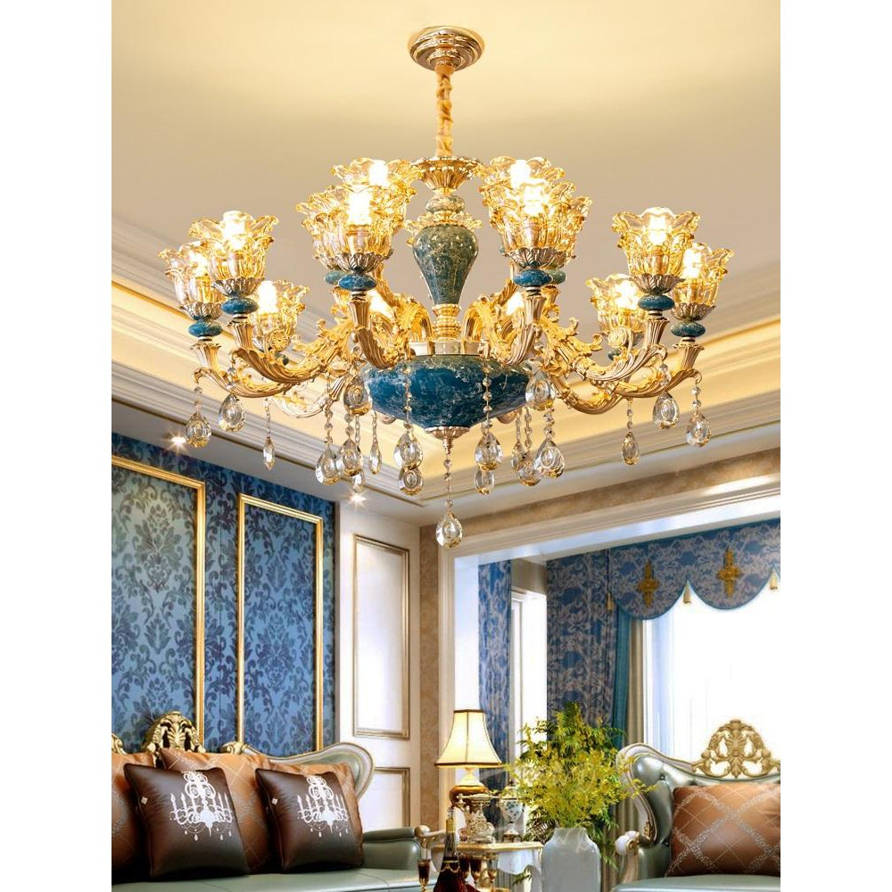 Đèn chùm trang trí ROYA phong cách Châu Âu hiện đại sang trọng loại 15 tay - Tặng kèm bóng LED đầy đủ (ảnh chụp thật)