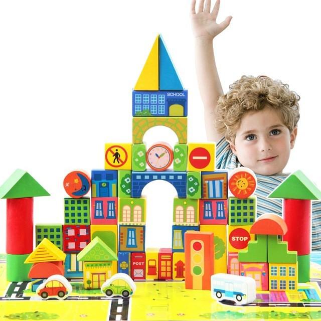 Bộ đồ chơi xếp hình lâu đài bằng gỗ 62 chi tiết - 2930497 , 584391780 , 322_584391780 , 299000 , Bo-do-choi-xep-hinh-lau-dai-bang-go-62-chi-tiet-322_584391780 , shopee.vn , Bộ đồ chơi xếp hình lâu đài bằng gỗ 62 chi tiết