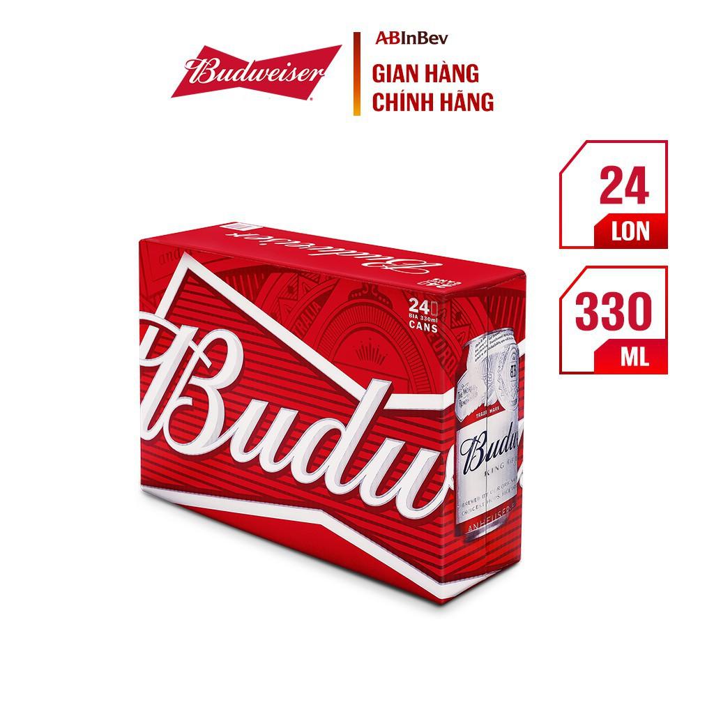 10 Lon Bia Budweiser Chính Hãng (330ml/ lon) - Date : 11/2021