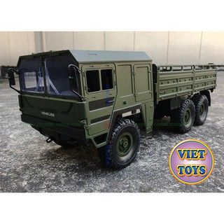Xe Tải Quân Sự Off-road JJRC Q64 6×6 WD 1/16