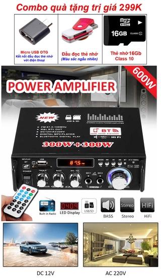Đang Hót Ampli Mini Loa_Amly Bluetooth BT298A 600W Cao Cấp Loại Tốt Công Suất Cực Lớn,Bảo Hành Uy Tín thumbnail