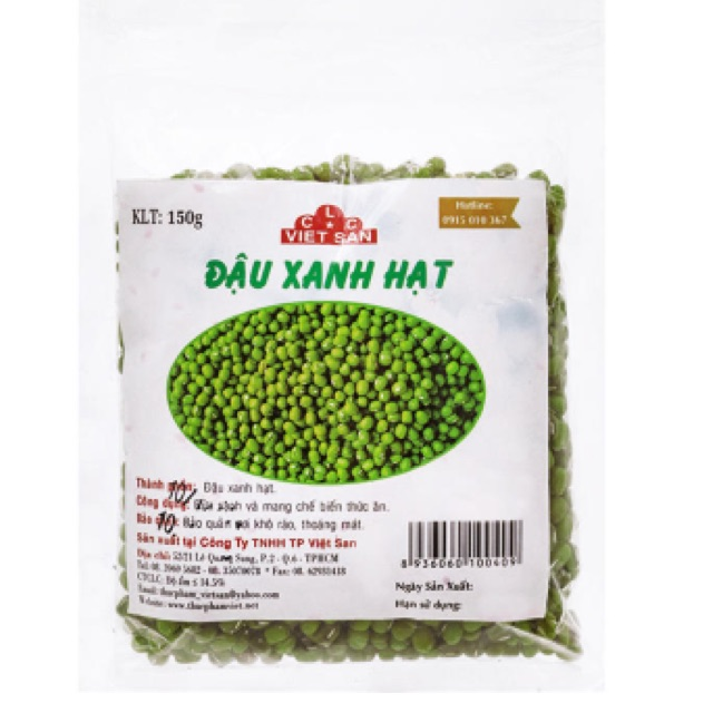 Đậu xanh hạt CLC Việt San 150g