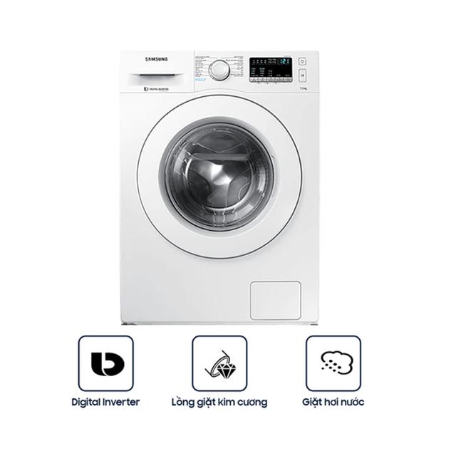Miễn phí công lắp đặt_Máy Giặt Samsung Inverter WW75J42G0KW/SV (7.5kg) - Hàng Chính Hãng