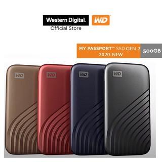 Ổ cứng di động 500GB External SSD WD My Passport USB 3.2 Gen 2 WDBAGF5000ABL-WESN
