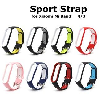 Dây Đeo Thay Thế Chất Liệu Silicon Màu Trơn Cho Xiaomi Mi Band 3 4 Strap Double Color Original Soft Silicone Strap Replacement Wrist Strap Band Wriststrap Miband 3 4 5 Wristband Smartwatch