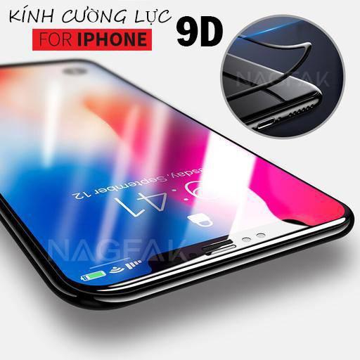 Kính Cường Lực iphone 9D Full Màn Cho Iphone 6/7/8 - Siêu Bền - Có Video Thật
