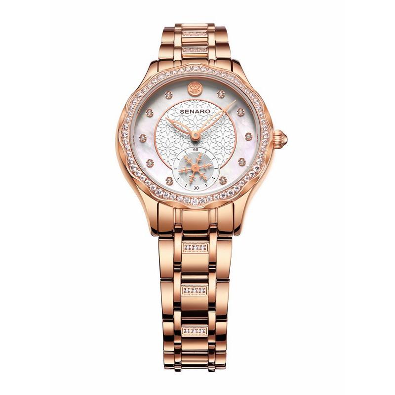 Đồng hồ nữ SENARO Snowflakes SAR3075L.MWM