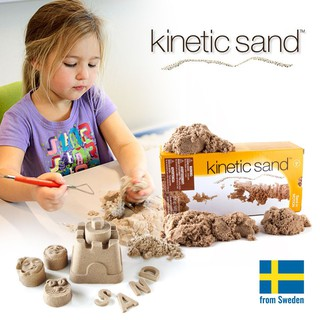 Cát động lực Kinetic Sand chính hãng Thụy Điển – Tặng kèm bộ khuôn