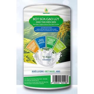 Bột sữa gạo lứt sinh thái Điện Biên DBFOOD 450g thơm ngon, tốt cho sức khỏe