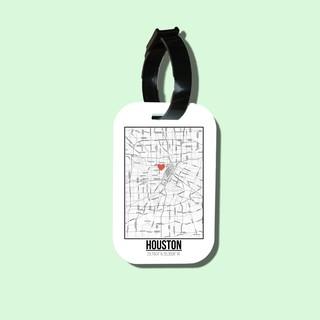 Travel tag cho túi xách balo du lịch in hình Love City - Houston thumbnail