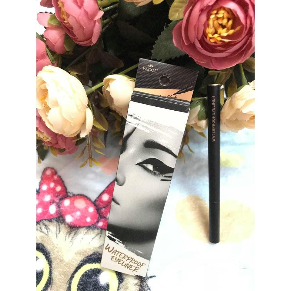 Bút kẻ mắt nước tốt, không trôi Vacosi Waterproof Pen Eyeliner (Hàn Quốc) - 3366088 , 931712276 , 322_931712276 , 139000 , But-ke-mat-nuoc-tot-khong-troi-Vacosi-Waterproof-Pen-Eyeliner-Han-Quoc-322_931712276 , shopee.vn , Bút kẻ mắt nước tốt, không trôi Vacosi Waterproof Pen Eyeliner (Hàn Quốc)