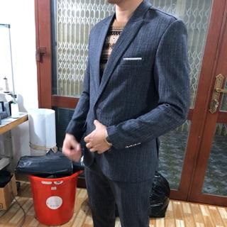 Bộ vest nam body cao cấp màu lông chuột full size