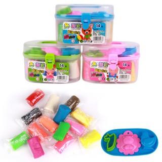 14 Colors DIY Plasticine Set Modeling Clay Parent-child Toys