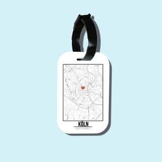 Travel tag cho túi xách balo du lịch in hình Love City - Koln thumbnail