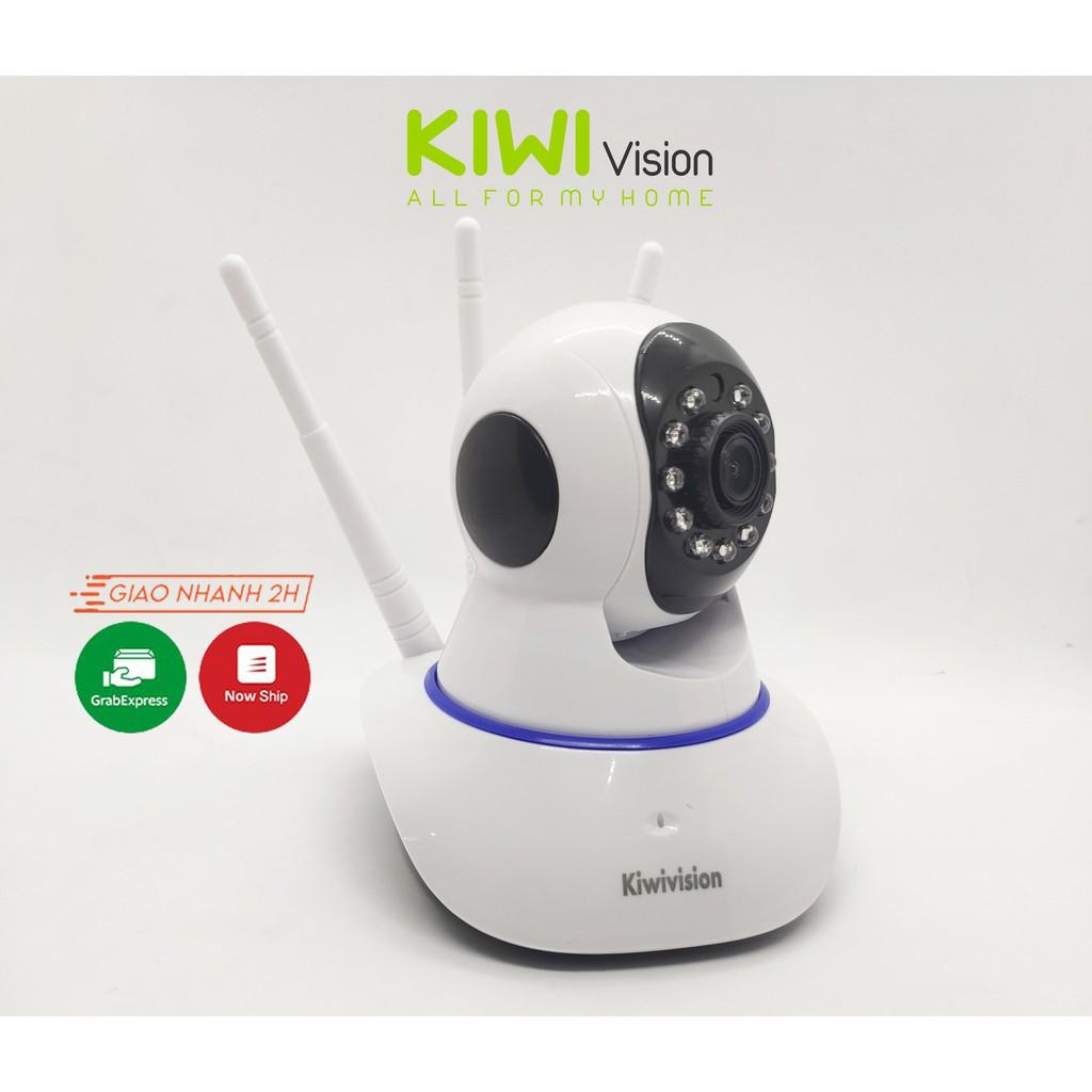 Camera wifi IP  3 Râu Kiwivision Full HD đàm thoại 2 chiều giám sát an ninh ngày đêm
