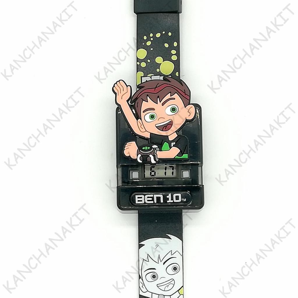 Ben10 เบ็นเท็น นาฬิกา ข้อมือ เด็ก ผู้ชาย มีไฟ - ลิขสิทธิ์แท้ จาก การ์ตูนเน็ตเวิร์ค Cartoon Networken10 เบ็นเท็น นาฬิกา ข