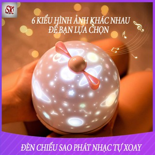 (CÓ REMOTE) ĐÈN LED CHIẾU ĐA HÌNH NHẠC BLUETOOTH HIỆU ỨNG TRỜI ĐẦY SAO PHÁT NHẠC -XOAY 360 ĐỘ -ĐÈN CHIẾU SAO-ĐÈN SAO