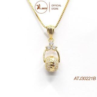 Dây chuyền bạc Ý 925 Quả Cầu Đá Lấp Lánh - Trang Sức ANTA Jewelry AT30221B thumbnail