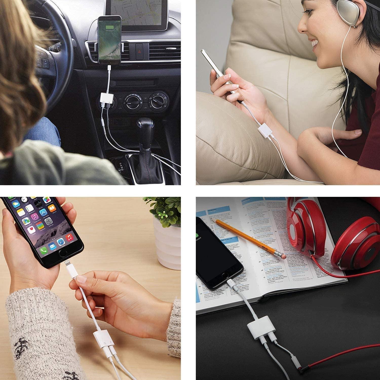 Đầu chuyển đổi âm thanh Sgalas 2 trong 1 từ cáp AUX sang hai cổng Lightning và tai nghe cho iPhone ipad