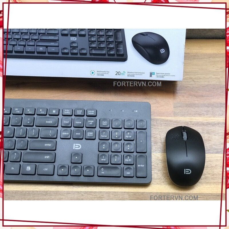(KM Sốc) Bộ bàn phím chuột không dây FD IK7300 Sử Dụng 2 Pin AA 1.5V