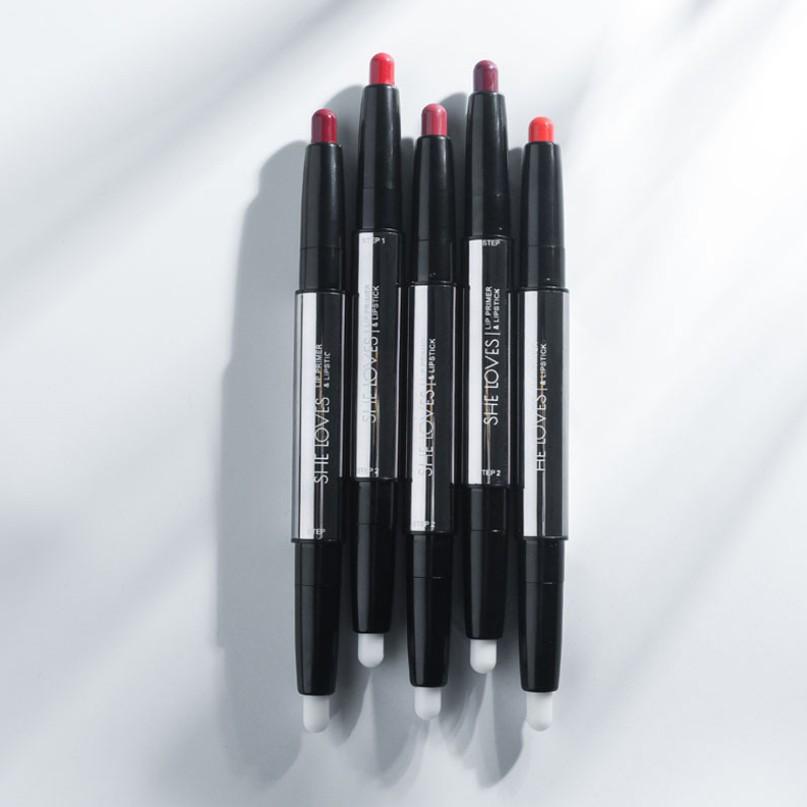 Son lì 2 đầu She Loves Lip Primer & Lipstick 2g