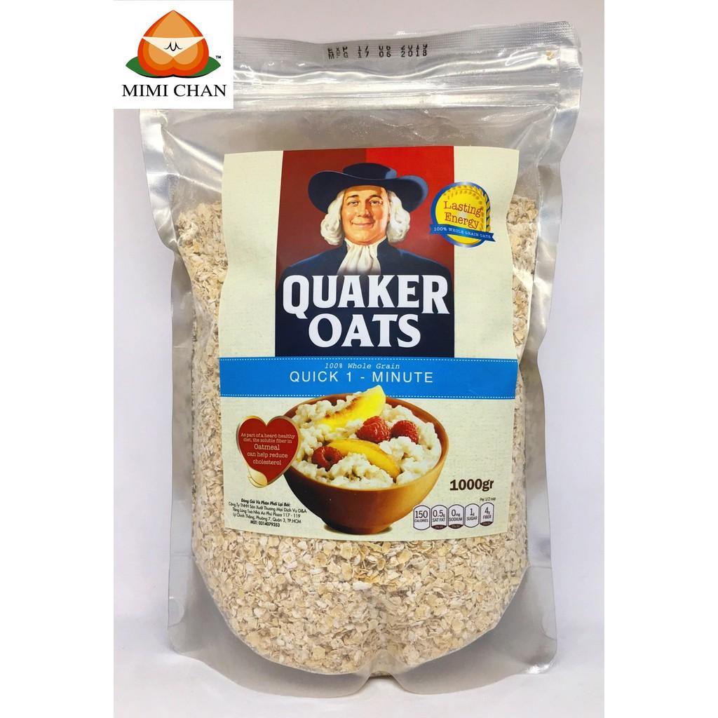 Yến Mạch Mỹ Quaker Oats Túi Zip 1kg (Nguyên chất 100%) Yến Mạch Mỹ Quaker Oats Túi Zip 1kg (Nguyên chất 100%)