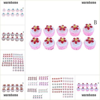 warmhome 10pcs Resin Miniature Flowers Candy Cake for Phone Decoration Jewelry Accessory thro