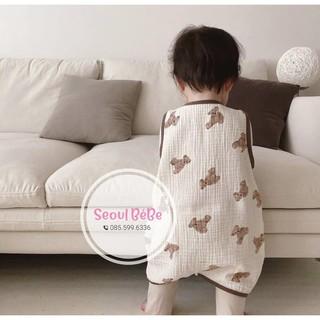 Túi ngủ gấu Peekaboo chất liệu mềm, nhẹ, mỏng must have mùa hè cho bé yêu, hàng chuẩn Hàn