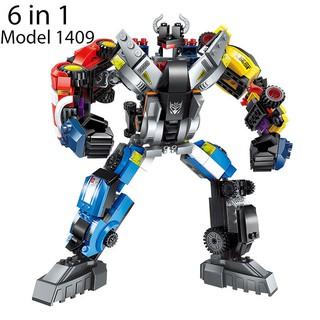 Bộ Đồ Chơi Lắp Ghép Robot Biến Hình 6 Trong 1 Model 1409 ENLIGHTEN 600 Mảnh Ghép