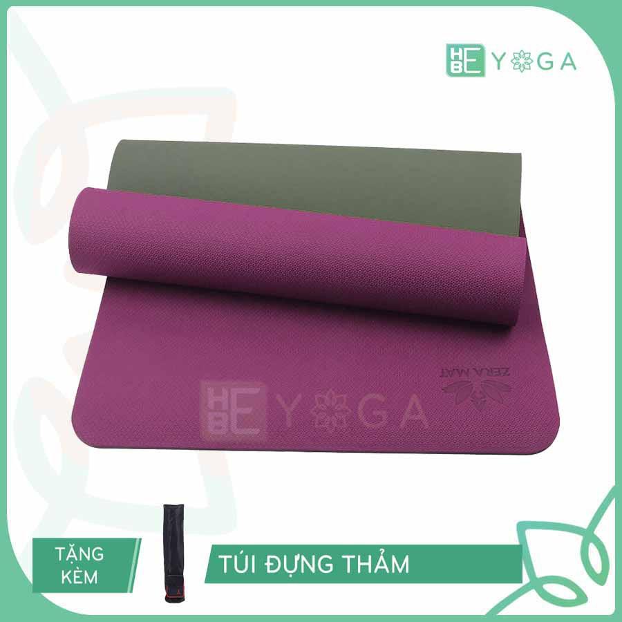 [Mã MASOG200K giảm 15% TỐI ĐA 200K đơn 500K] Thảm Tập Yoga Zera Mat TPE 8mm 2 Lớp Cao Cấp Tặng Kèm Túi